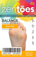 ZenToes Dancer Pads 4 Count Gel Cushions Relieve Ball of Foot Metatarsal Pain
