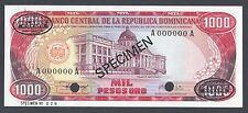 Dominican Republic 1000 Pesos 1980 P124s1 Specimen TDLR Uncirculated