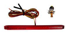 Rotes schmales LED Motorradrücklicht Rücklicht Bremslicht Stripe Style