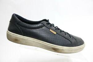 ECCO Soft 7 Black Sz 11.5 (45 EU) Men Leather Sneakers
