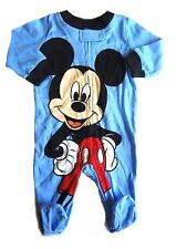 222e85d1e Disney Baby Mickey Mouse Boys Blue Sleeper Footie 3 Months Zipper Cotton