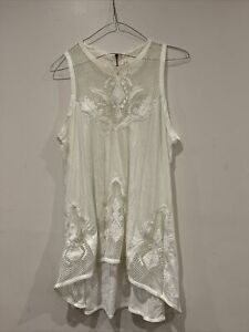 Sass And Bide Moonshadow Sleeveless Embroidery Cotton Tank Top. Size M