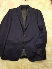 NWT $2500 CARUSO NAVY BLUE FLANNEL WOOL CASHMERE HAND MADE FULL CANVAS 42