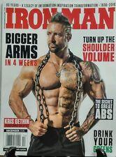 Iron Man December 2016 Kris Gethin Bigger Arms Shoulder Volume FREE SHIPPING sb