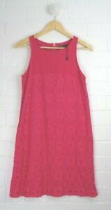CORTEFIEL Woman Hot Pink Textured Straight Shift Dress Size S Size10