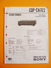 Sony CDP-CA7ES  Service  Manual