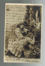 1907 Brazil Postcard Cover to Minas Little Girls in Garden Praying