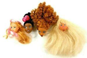 Vintage Doll Heads For OOAK Disney Mattel My Scene Clone Lot 4