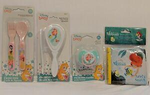Disney Princess Little Mermaid Baby Soft Brush w/ Comb Set, Spoon&Fork, Pacifier