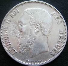 Belgie Belgium Zilveren 5 Francs 1870      (2)