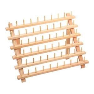 60 Spools Wooden Thread Rack/Thread Holder Organizer for Embroidery Quilting and