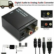 Optical Coaxial Toslink Digital L/R to Analog Audio Converter Adapter RCA Audio