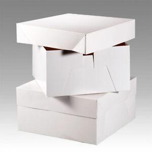 """White Cake Boxes for Wedding Birthday Cakes 8,9,10,11,12,13,14,15,16,18,20"""" Box"""