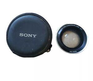 SONY VCL-E07A WIDE END CONVERSION LENS x0.7  EUC! With Case  30MM & 25MM Lens
