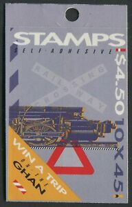 TRAINS 1993 - MINT BOOKLET OF SELF-ADHESIVES