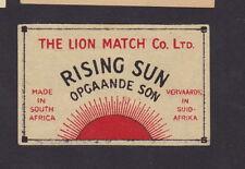 Ancienne  étiquette    Allumettes Afrique du Sud   BN21944 Soleil