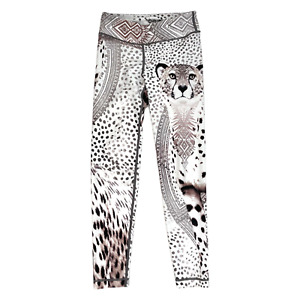 WITH Wear it With Heart Leggings Size XS Womens Leopard Animal Print Soft