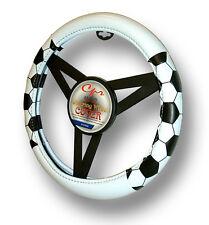 """White Futbol Soccer Steering Wheel Cover Universal 14.5""""-15.5"""""""