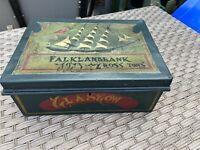 Falklandbank Glasgow Vintage Tin Box With Key
