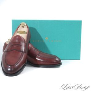 NIB #1 MENSWEAR Edward Green England Piccadilly Burgundy Antique 184 Shoes 7.5 8