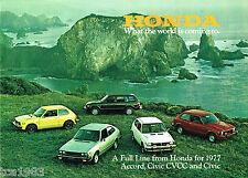 1977 HONDA Brochure/Catalog: ACCORD,CVCC,Station Wagon,CIVIC,HATCHBACK