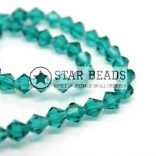 50 X Faceted Bicone Crystal Glass Beads 6x4mm - Pick Colour Emerald
