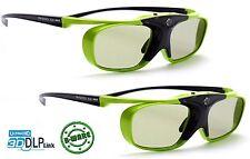 2x 3D Brille DLP Pro Lime Heaven |  Komp zu. BenQ W 1070 W, LG PF1500 | B-Ware