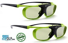 2x 3D Brille DLP Pro Lime Heaven |  Komp zu. BenQ W 1070 W, LG Largo PF1500