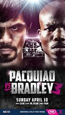MANNY PACQUIAO v TIMOTHY BRADLEY 3 FOX TELEVISION PROMO POSTER