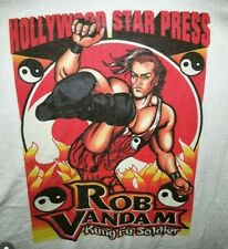 Rare Rob Van Dam Hollywood Star Press 1996 ECW HARU Wrestling XL Shirt RVD 4:20