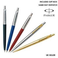 PARKER JOTTER BALLPOINT PEN BLACK, BLUE, RED,STAINLESS STEEL SILVER ,GOLD, WHITE