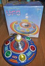 Vintage ufo super blowing ball série ii tin plaque space craft jouet années 70 boxed