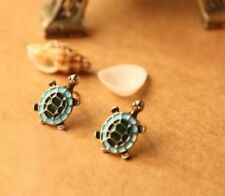 Turquoise Blue Green Animal Zoo Turtle Tortoise Costume Jewellery Cute Earrings