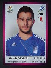 PANINI 97 altri Fetfatzidis Grecia euro 2012 Poland-Ucraina