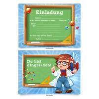 """Geburtstagskarten (8 Stück) """"Physik"""" zum Einladen Einladungskarten Karten"""