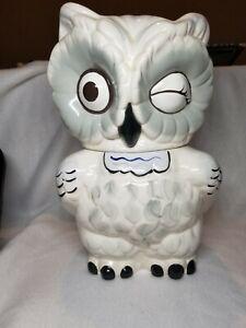 Vintage Winking Owl Cookie Jar