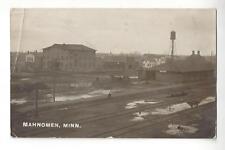 1910 Mahnomen, Minnesota Depot & Town View RPPC