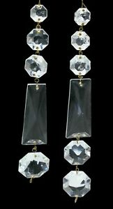 Glass Crystal Chandelier Pieces Connectors Hanging Strand Faceted Prism Finding