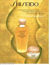 PUBLICITE ADVERTISING 085  1996  SHISEIDO  llotion  cosmétique BENEFIANCE