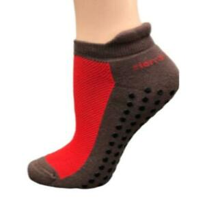 Heel Guard Mesh Top Cotton Anklet High Socks with Non Skid Gripper SWPMTG
