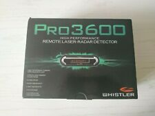 Whistler PRO 3600 Radar Detector NEW