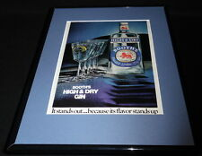 1976 Booth's High & Dry Gin 11x14 Framed ORIGINAL Vintage Advertisement
