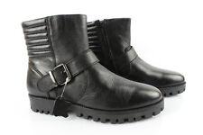 CLOSER Bottines Boots Motard Cuir Noir T 38 --> 39 Très bon état
