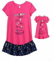 Girl 4-14 and Doll Matching Sleepover Nightgown Clothes American Girl Dollie Me