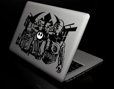 """Black Star Wars R2 AND C-3PO Decal Sticker Skin for Macbook Air/Pro 13"""" 15"""" 17"""""""