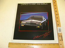 1984 84 Chevrolet Chevy Caprice Classic and Impala Sales Brochure Catalog 16 Pgs