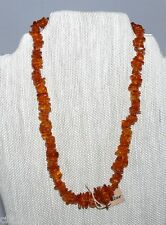Amber Necklace Gemstone Nugget New Aritsan Handcrafted 16""