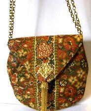 .Morris Moskowitz tapestry shoulder bag/pocketbook/purse ca.1950'sTassel clos