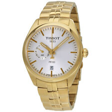 Tissot PR 100 Silver Dial Mens Gold Tone Stainless Steel Watch