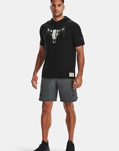 Under Armour Mens UA Project Rock Terry Snake Short Sleeve Hoodie Dwayne Johnson
